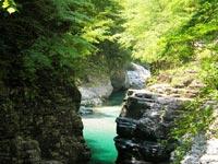 面河渓谷 関門