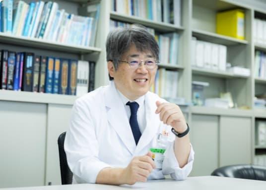 写真:大八木教授のインタビュー風景